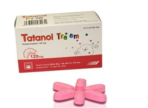 Thuốc Tatanol trẻ em 120mg - thuốc giảm đau và hạ sốt cho trẻ