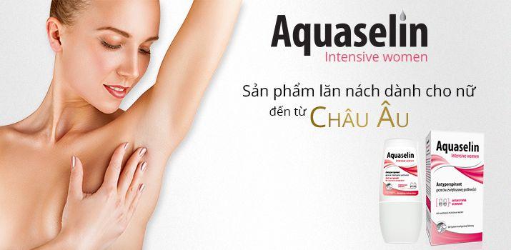 Lăn hỗ trợ khử mùi Aquaselin Intensive women cho nữ