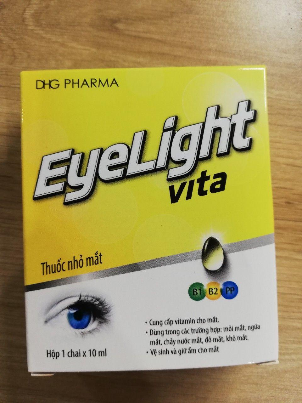 Thuốc nhỏ mắt Eyelight Vita DHG Pharma giúp bảo vệ đôi mắt