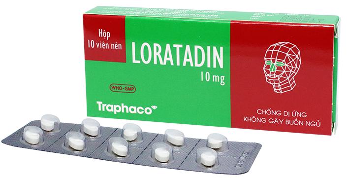 Thuốc dị ứng Loratadin 10mg - Điều trị viêm mũi dị ứng, mề đay