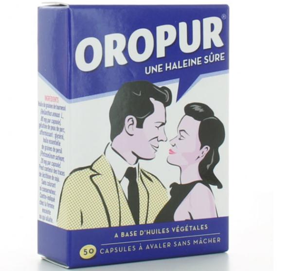 Viên uống hỗ trợ khử mùi hôi miệng Oropurhộp 50 viên của Pháp