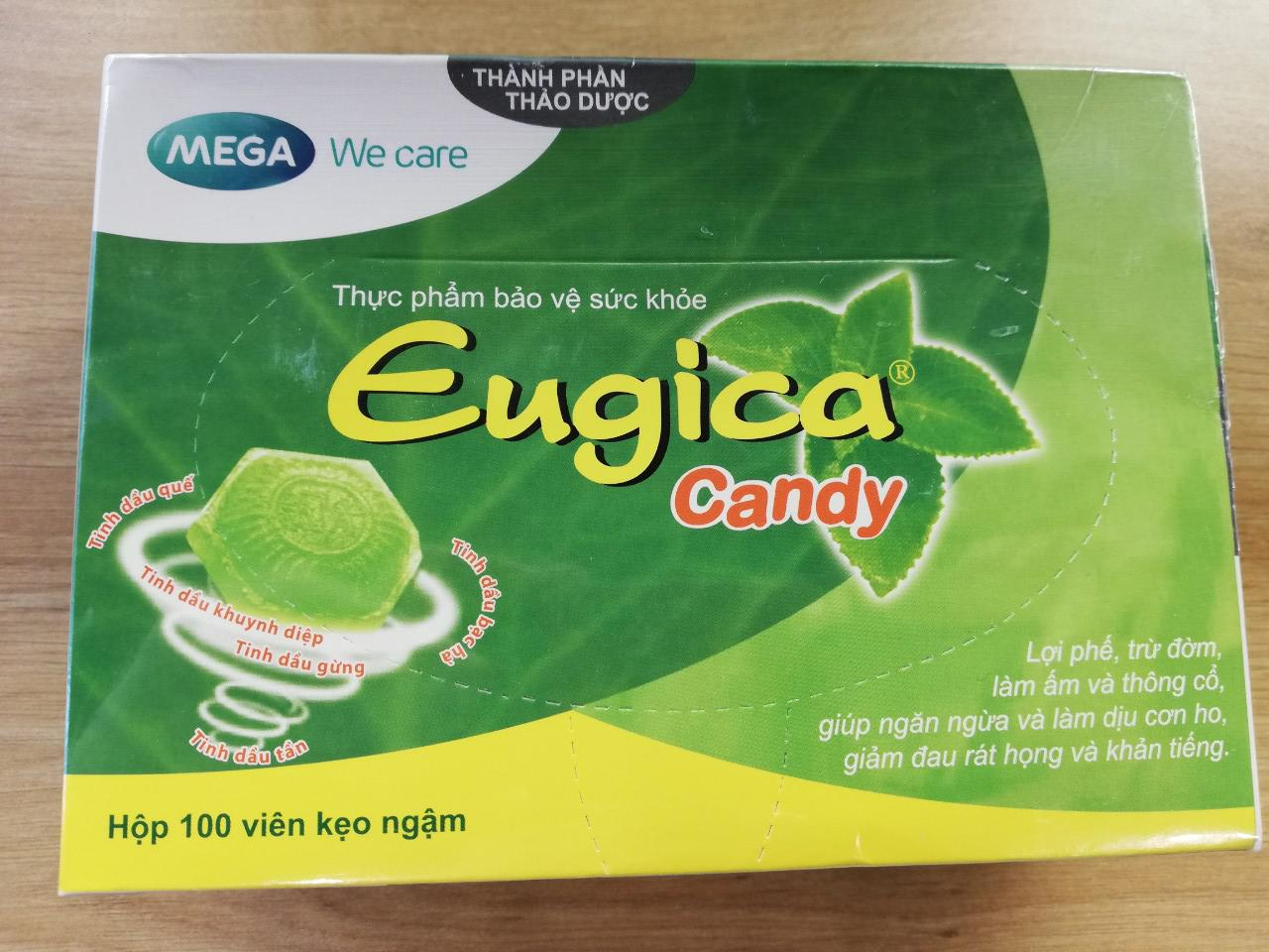 Kẹo ngậm Eugica Candy Mega We care