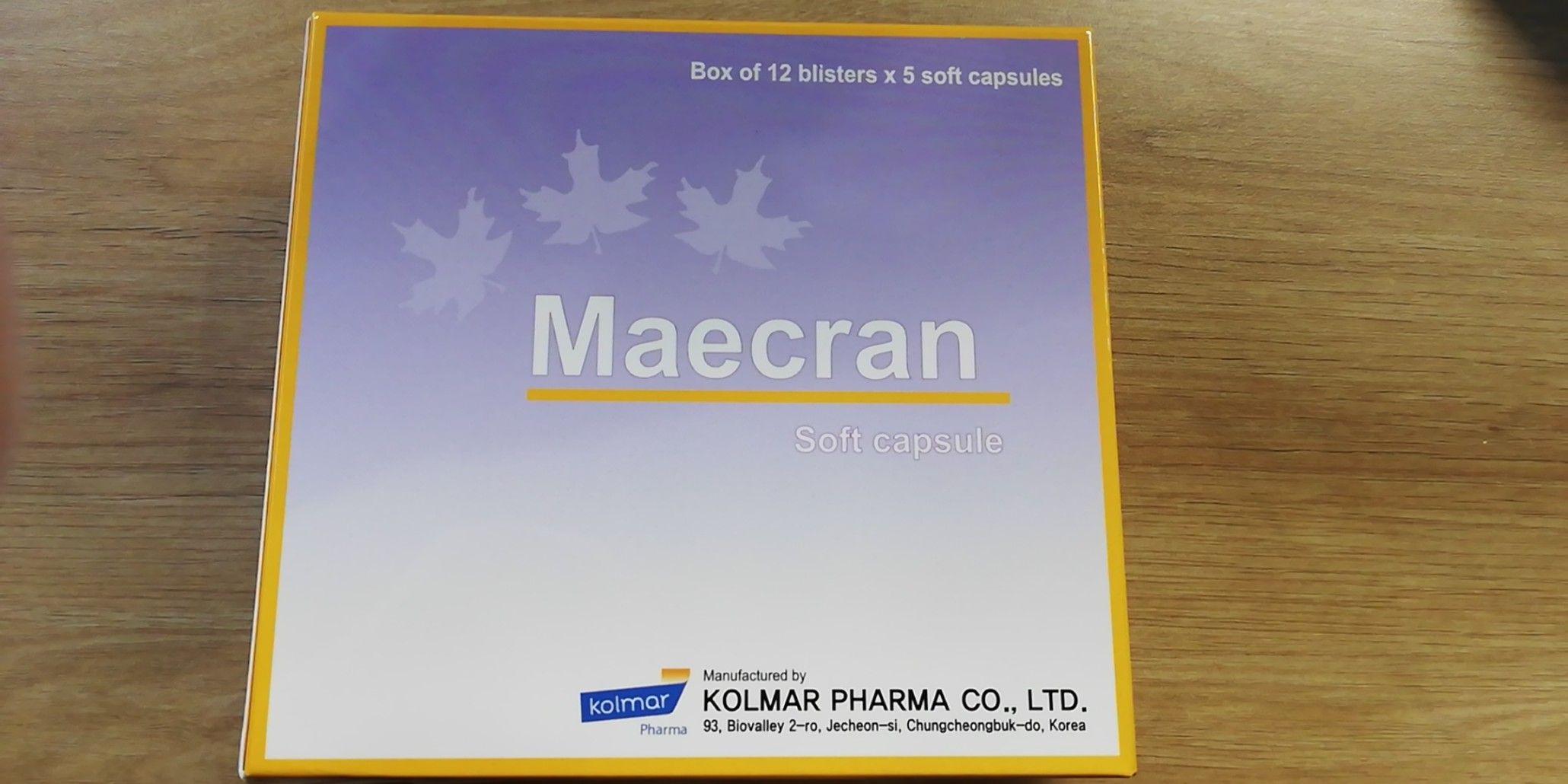 Thuốc Maecran Kolmar Pharma hộp 60 viên