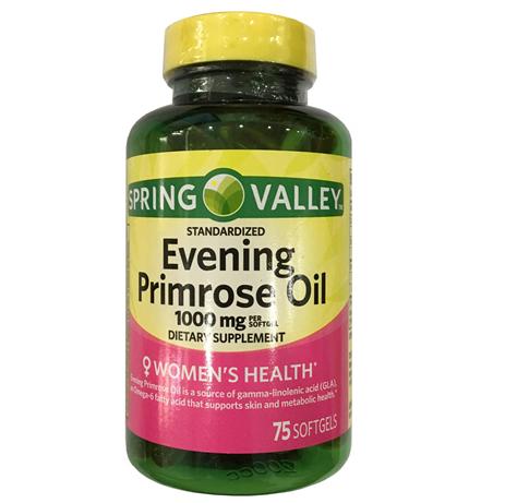 Viên tinh dầu hỗ trợ sinh lý nữ Spring Valley Evening 1000mg