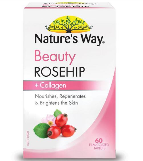 Viên uống bổ sung Collagen Nature's Way Beauty Rosehip Collagen