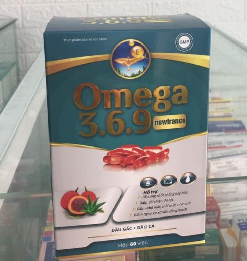 Viên uống dầu gấc + dầu cá Omega 3 6 9 Newfrance