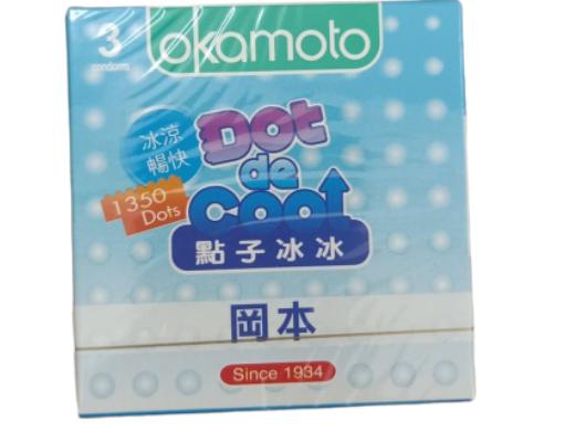 Bao cao su Okamoto Dot de Cool hộp 3 chiếc của Nhật