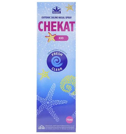 Dung Dịch Vệ Sinh Mũi cho bé Chekat Kid 75ml