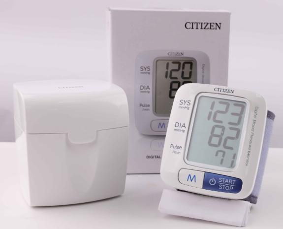 Máy đo huyết áp điện tử cổ tay Citizen CH-650 của Nhật chính hãng
