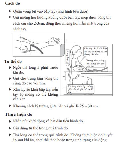 Cách đo huyết áp với máy đo huyết áp Yuwell YE660B