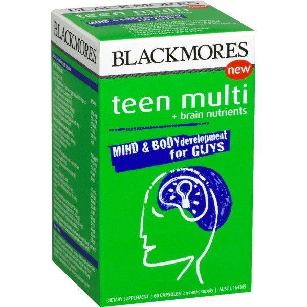 Viên uống tăng cường trí nhớ Blackmores Teen Multi For Guys