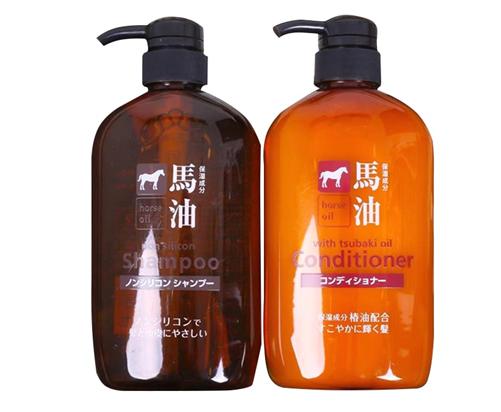 Bộ dầu gội xả mỡ ngựa Hokkaido Horse Oil của Nhật