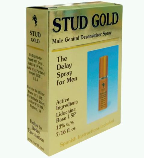 Chai xịt kéo dài thời gian cho nam giới Stud Gold Anh Quốc