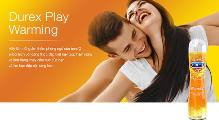 Gel bôi trơn ấm nóng Durex Play Warming giữ lửa cuộc yêu nồng nhiệt, thăng hoa