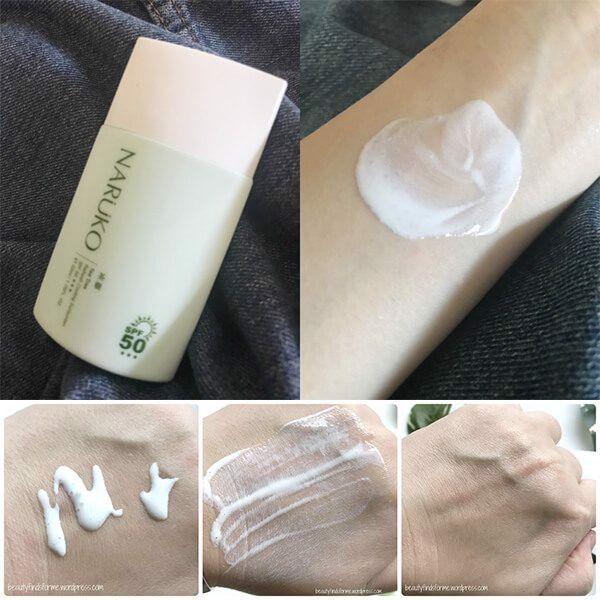 Kem chống nắng mát lạnh Naruko chiết xuất tràm trà Tea Tree Refresh Cooling Sunscreen SPF50