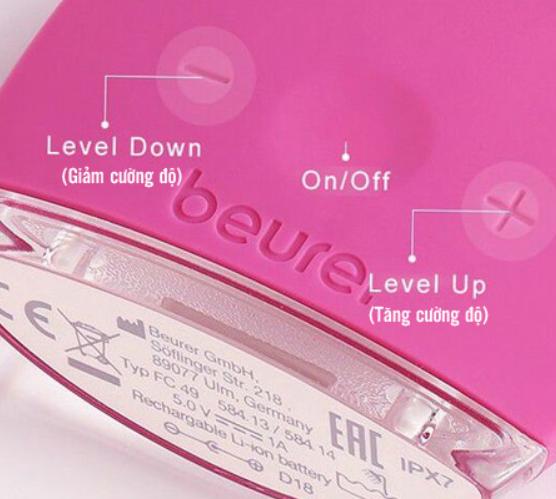 Bộ điều khiển thay đổi cường độ của máy rửa mặt massage Beurer FC49