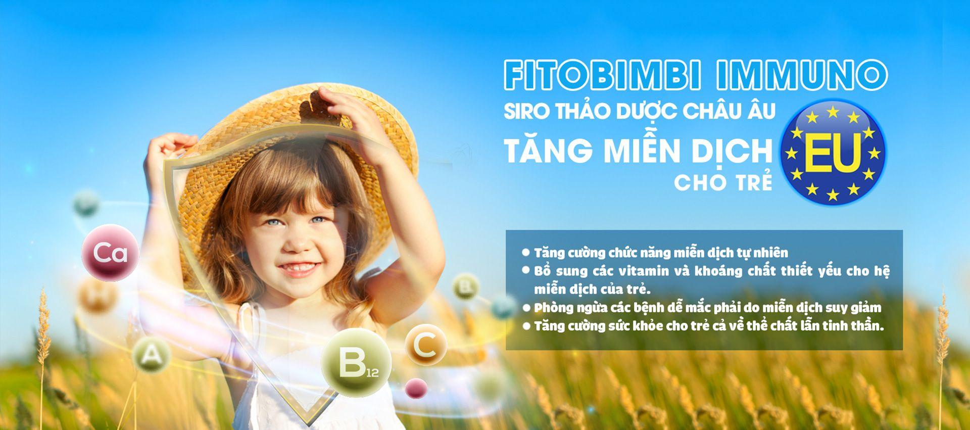 Siro tăng đề kháng miễn dịch cho trẻ Fitobimbi Immuno