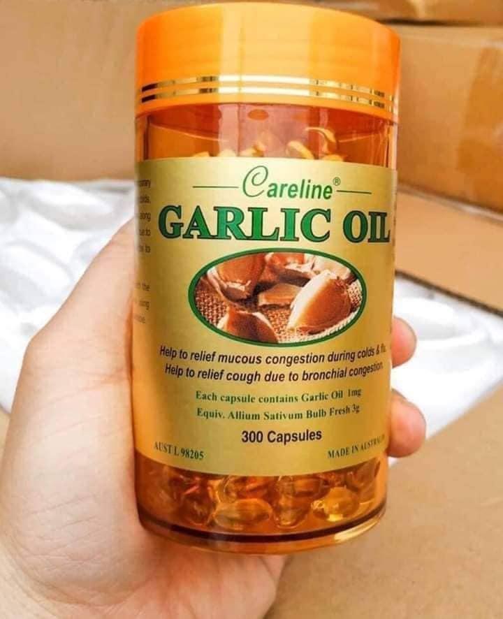 Viên tinh dầu tỏi Careline Garlic Oil của Úc