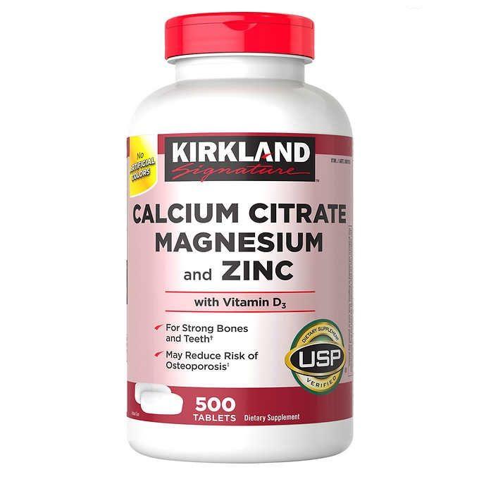 Vitamin Kirkland Calcium Citrate Magnesium And Zinc