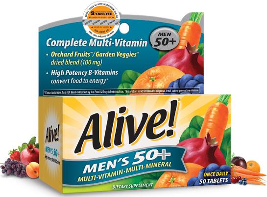 Viên uống bổ sung vitamin tổng hợp cho nam giới trên 50 tuổi Alive Men's 50+