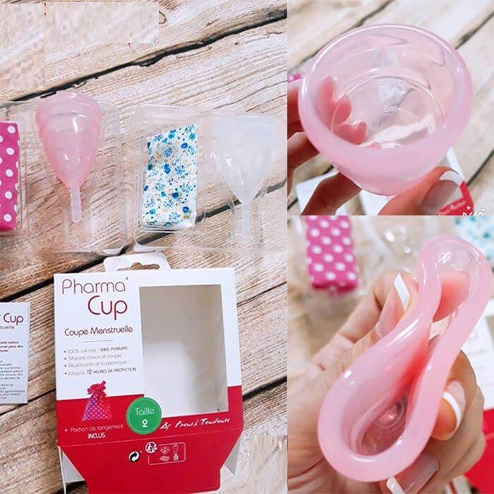 Cốc nguyệt san Pharma Cup chất liệu mềm mại, sử dụng vừa vặn thoải mái