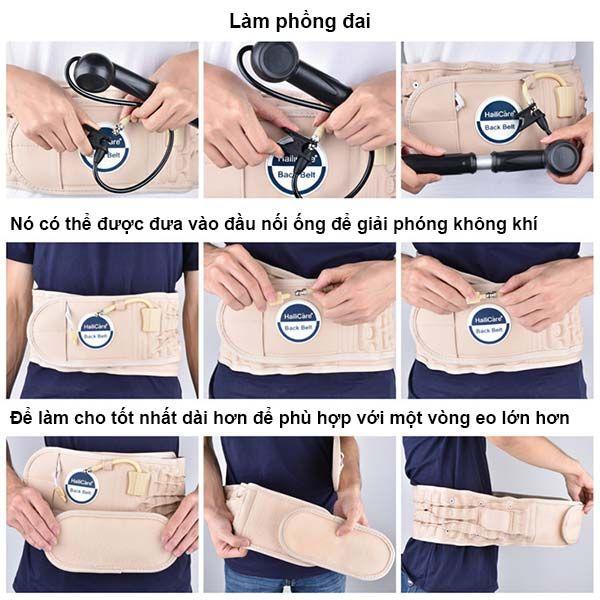 Cách sử dụng đai hơi kéo giãn cột sống thắt lưng HailiCare hiệu quả