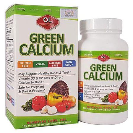 Canxi hữu cơ Green Calcium 100 viên của Mỹ
