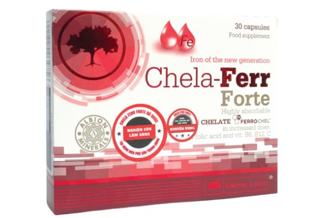 Viên bổ sung sắt Chela-Ferr Forte Ba Lan chính hãng