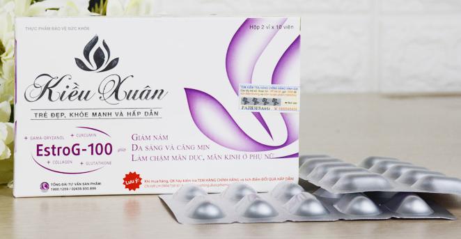 Viên bổ sung Estrogen Kiều Xuân EstroG-100