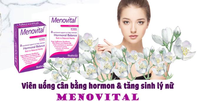 HealthAid Menovital cân bằng nội tiết tố nữ