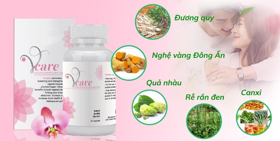 Viên uống Vcare cân bằng nội tiết tố nữ của Mỹ