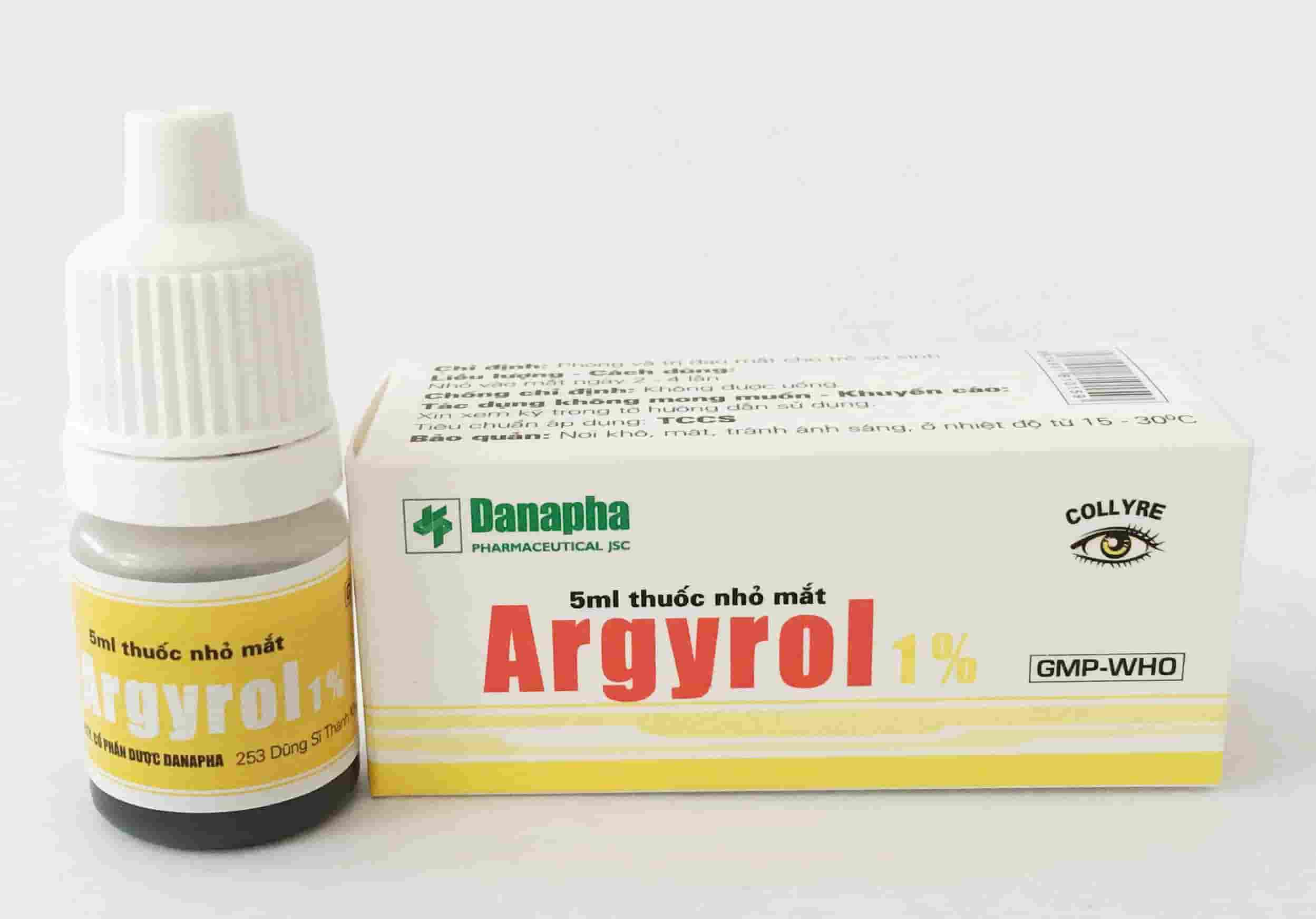 Argyrol 1% - Thuốc nhỏ mắt Argyrol 5ml lành tính, dịu nhẹ, loại trừ vi khuẩn