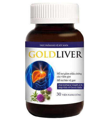 GoldLiver 30 viên giảm triệu trứng xơ gan, viêm gan