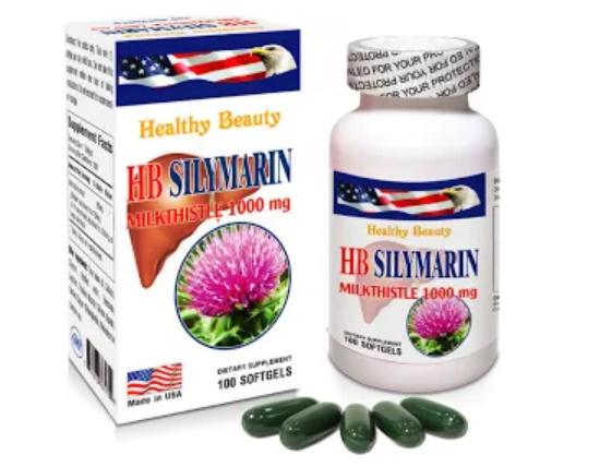Viên uống Healthy Beauty HB Silymarin thải độc bảo vệ chức năng gan