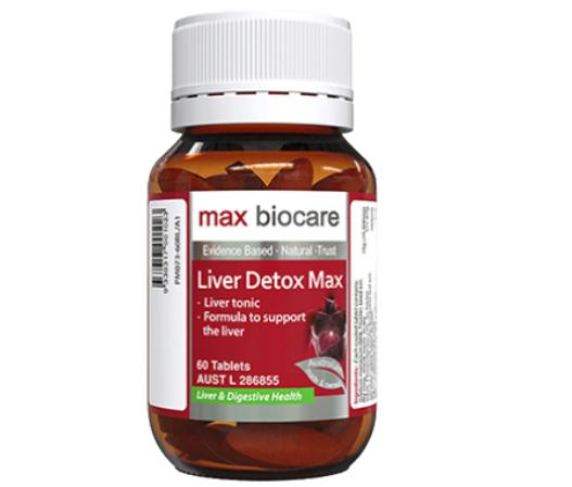 Max Biocare Liver Detox Max giải độc, bảo vệ chức năng gan