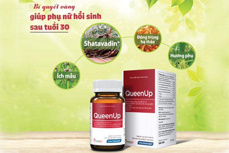 QueenUp - hỗ trợ tăng cường nội tiết tố cho nữ