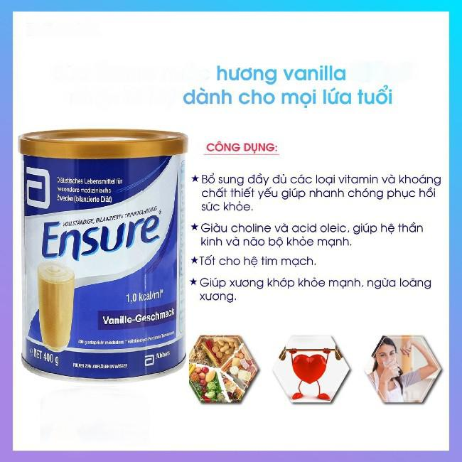 Công dụng Sữa Abbott Ensure Vanille Geschmack của Đức