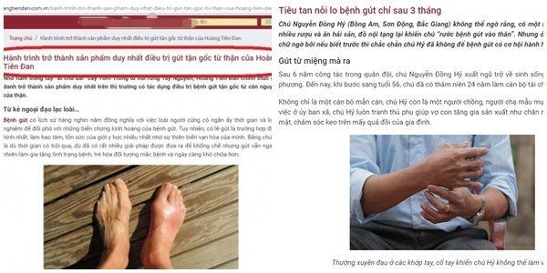 Hoàng Tiên Đan hỗ trợ điều trị gút