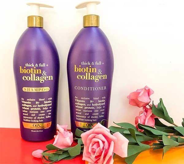 Dầu gộiBiotin & Collagen OGX loại mới 750ml có thêm vòi xịt tiện dụng hơn