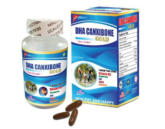 DHA Canxibone Gold - Viên uống bổ sung canxi nano giúp xương chắc khỏe