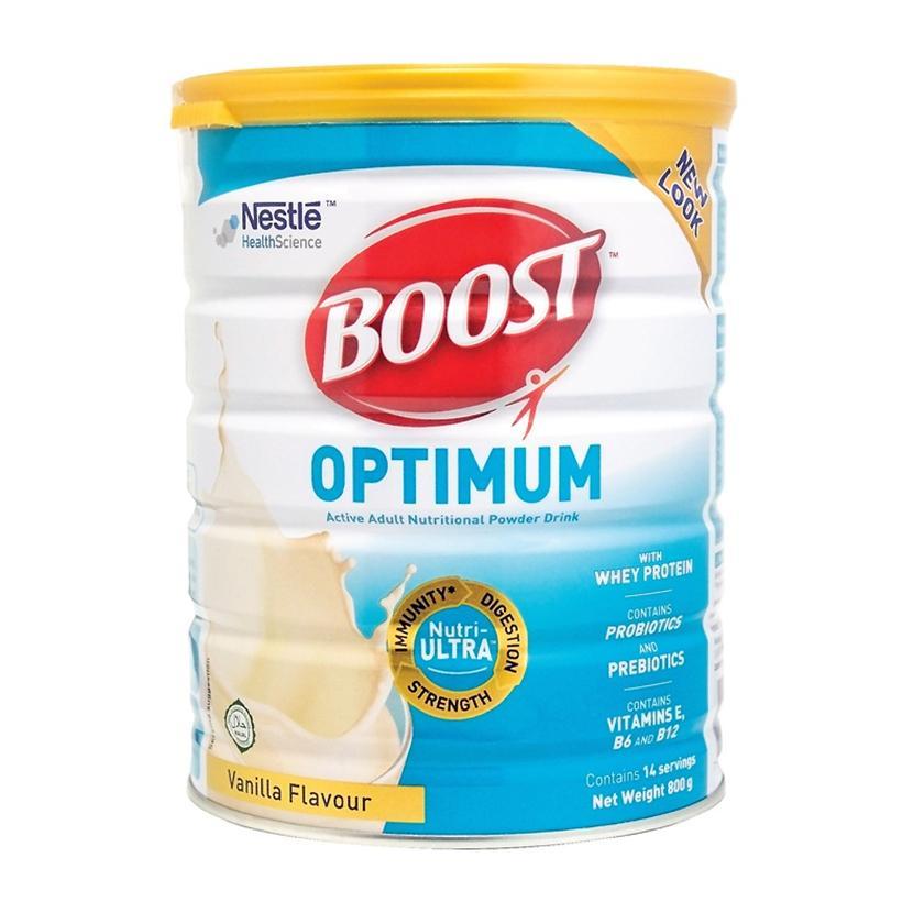 Sữa Boost Optimum 800g cho người đang hồi phục sau ốm dậy, phẫu thuật...