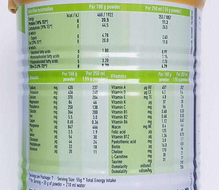 thông tin dinh dưỡng sữa Boost Glucose Control cho người tiểu đường
