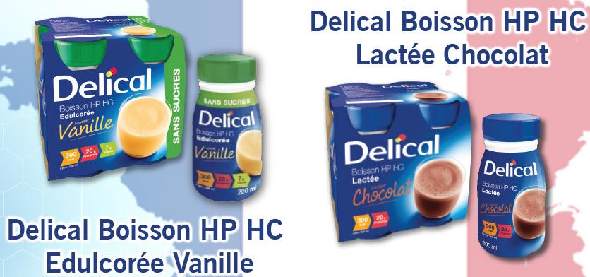Sữa nước Delical của Pháp có 2 vị: vani và socola