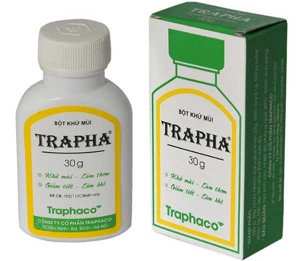 Công dụng của Bột khử mùi Trapha