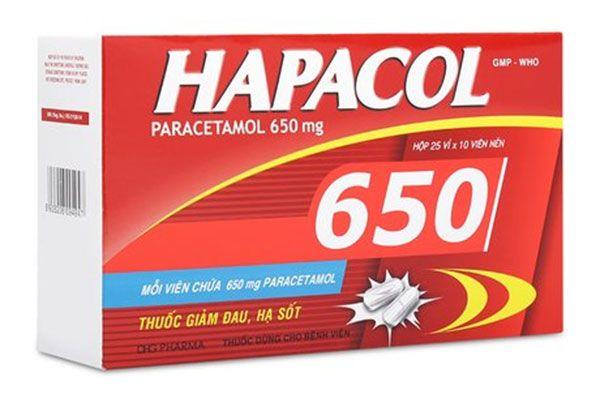 Hapacol 650 - Thuốc giảm đau và hạ sốt