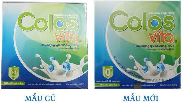Sữa non Colosvita cho trẻ từ 0-12 tháng, tăng cường miễn dịch