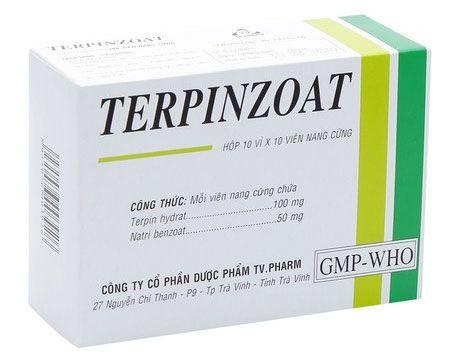 Thuốc Terpinzoat - Điều trị ho, long đờm mãn tính vỉ 10 viên