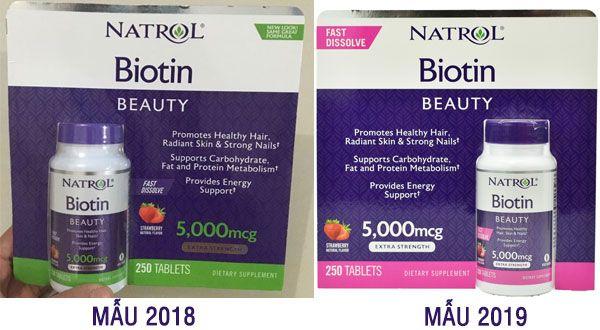 Viên ngâm mọc tóc Natrol Biotin 5000mcg của Mỹ 250 viên Fast Dissolve