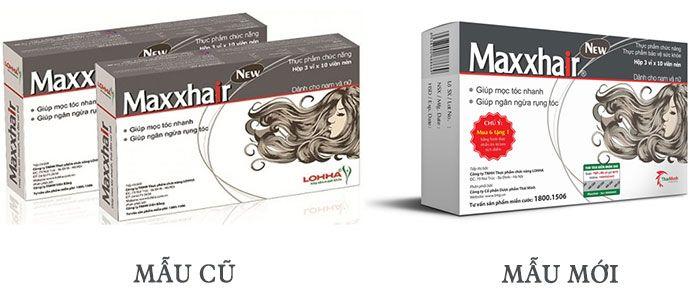 Viên uống mọc tóc Maxxhair - Giảm tóc rụng, cho tóc dày khỏe