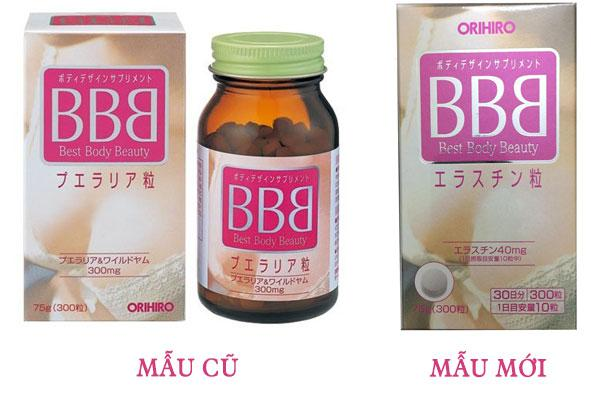 Viên uống nở ngực BBB Orihiro Nhật Bản 300 viên Chính Hãng